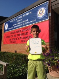 Alex's First day of First Grade - Submitted by Mom, Jennifer Sahinoglu