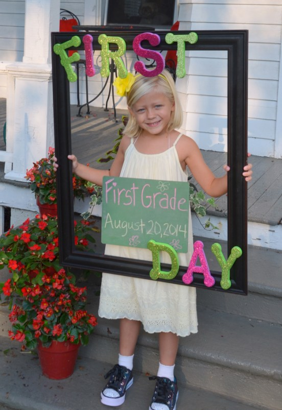 Madilyn on her first day of first grade - Submitted by mom, Dawn Van Ryn