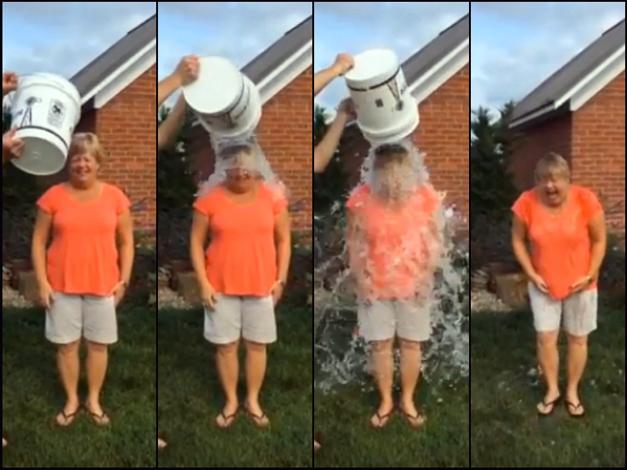 Barrington's Sue Randall Takes the Ice Bucket Challenge