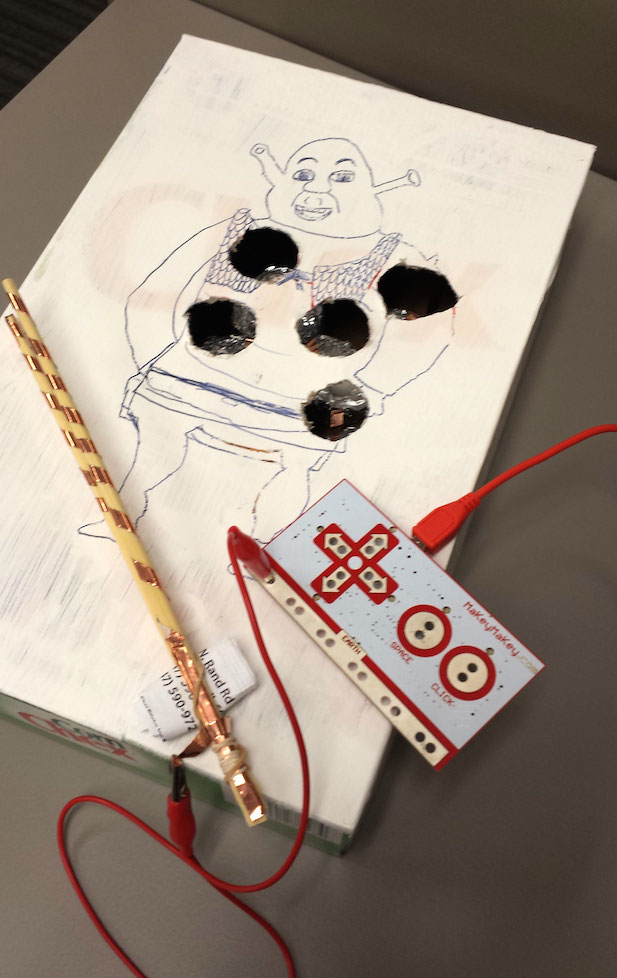 """During one Maker Camp session, students worked on making their own version of the old """"Operation"""" game - BZZZZZZ!"""