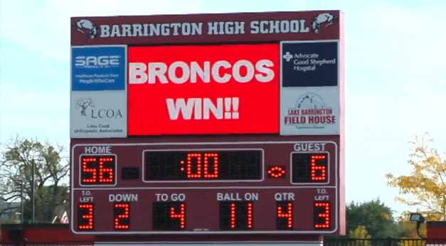 Broncos Win Homecoming Game Against Schaumburg in our BHS Game of the Week