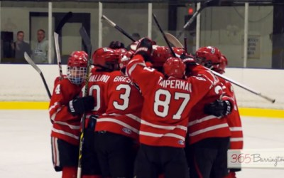 """276. VIDEO: BHS Hockey Goalie Called """"Spectacular"""" After Season Opening Win in 365Barrington Game of the Week"""