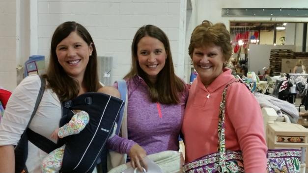 Kristin Frazier, Julie Lape, and Nancy Nemec at the Growing Cents of Style sale.