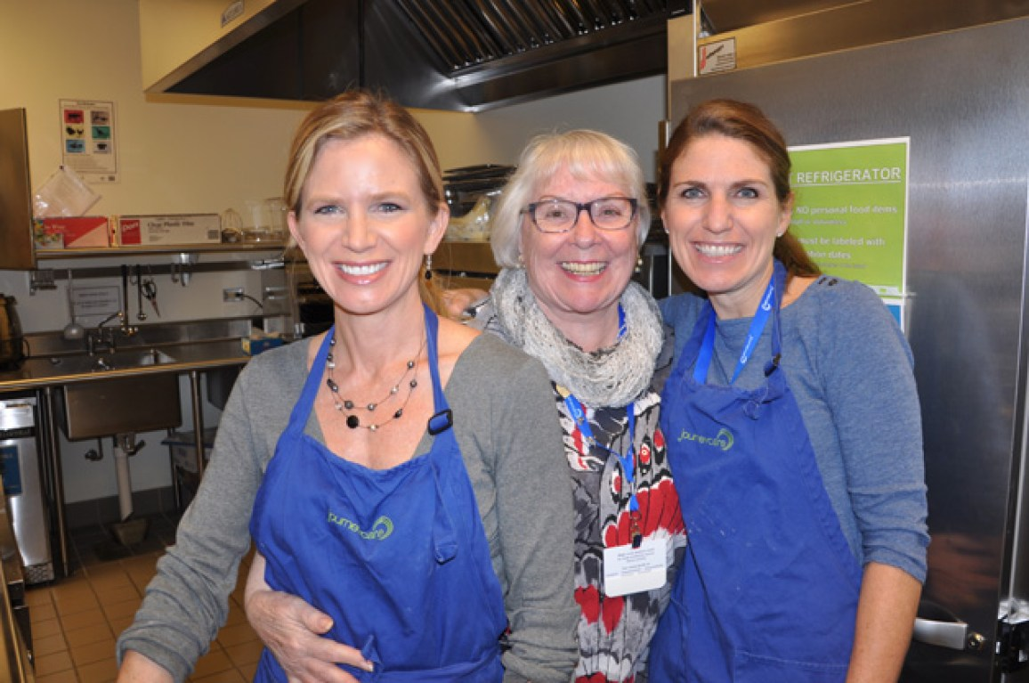 Julie Baily, volunteer and CNA Margie Coffman, and Jennifer Kainz - Photo by Liz Luby