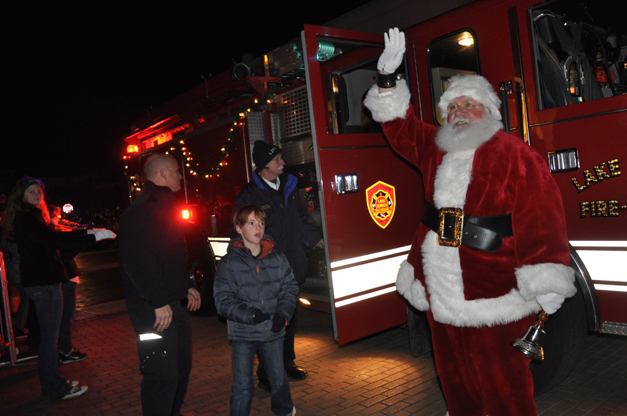 Letter-to-Santa Winner Rides in with Santa