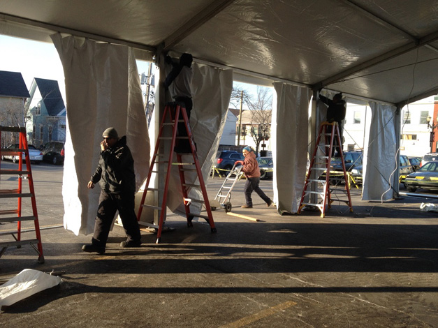 ChristKindlFest 2014 Setup Underway Now