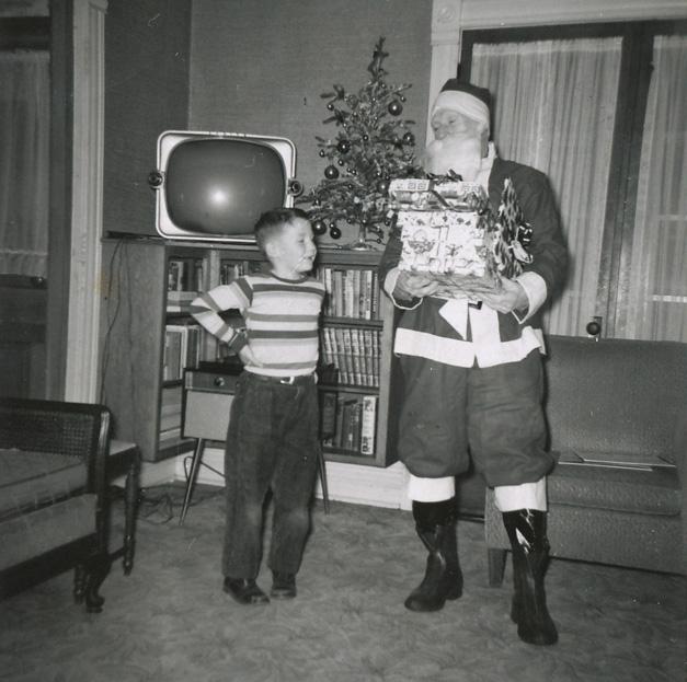 Post - Barrington History - Tim Dunn at age 7 - Arnett Lines as Santa - Courtesy of Tim Dunn