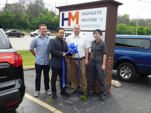 Highgate Motors Team Photos from pictured from left; ASE Certified Technicians Stephen Spinelli and Carmen Martinez, ASE Master Certified Technician Partner George Hanley and Alex Moran (Administrative Operations).