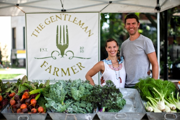 Jessica and Dominic Green at the Farmers Market - Photograph Courtesy of Christina Noel Photography