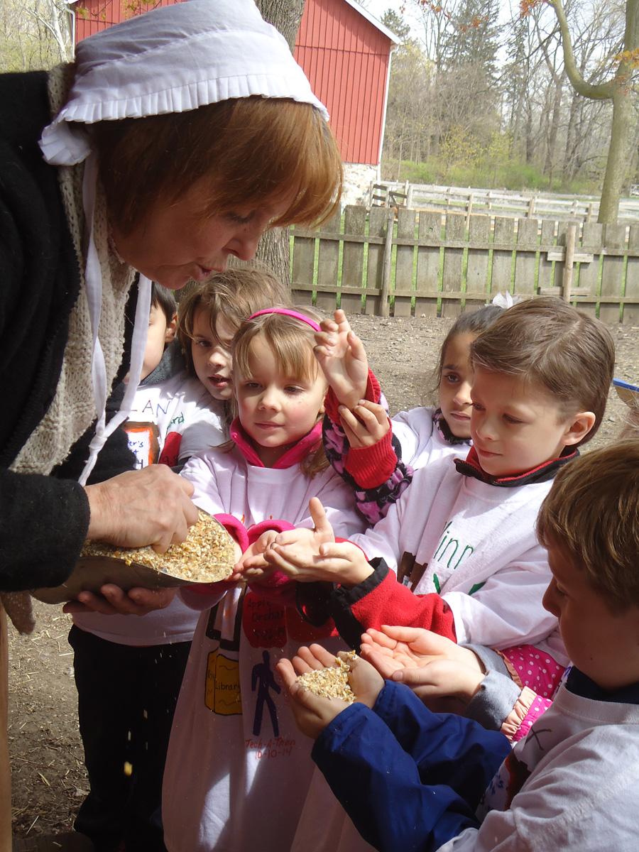 Working Farm Field Trip with Kindergartners at Saint Anne Parish School