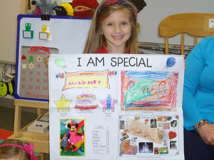 """""""I Am Special Student"""" at Saint Anne Parish School Kindergarten"""