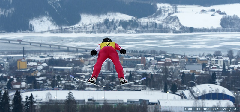 Casey Larson at the Youth Olympic Games in Lillehammer - Photo by Thomas Lovelock for YIS/IOC