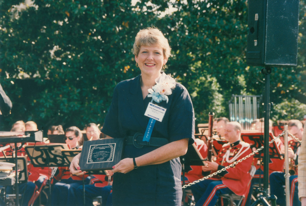 Dr. K at the 1992 National Blue Ribbon Schools recognition