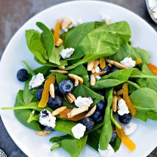 Modern Farmette's Blueberry & Goat Cheese Salad