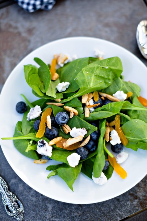 Modern Farmette's Blueberry & Goat Cheese Salad