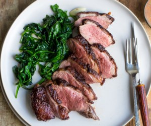 Cooking with Heinen's: Duck Breast with Cherry Port Reduction