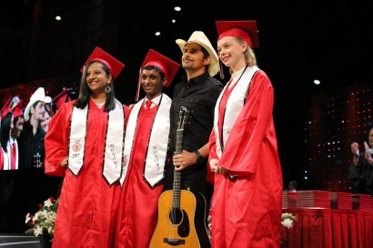 365 - Brad Paisley Performs Barrington High School Graduation - -24