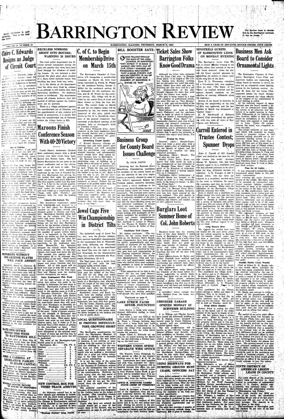 Barrington Review - March 6, 1930