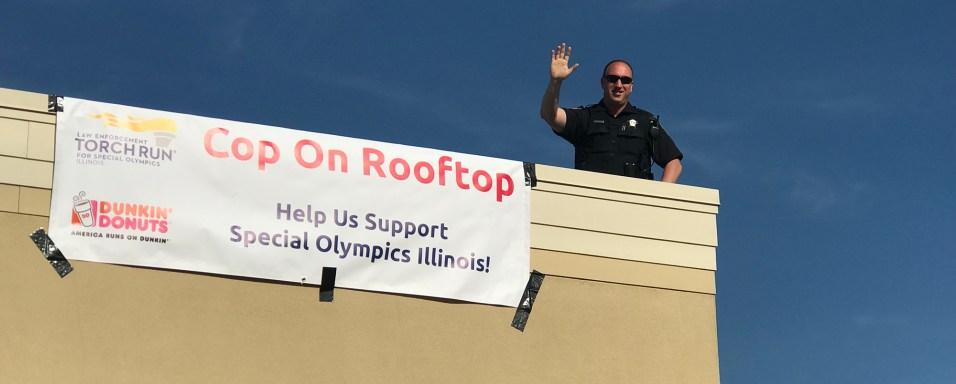 Hero - Village of Barrington Cop on a Rooftop - 4