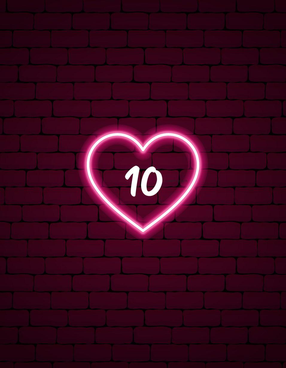 Cupid's Countdown - HEART - 10