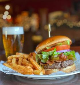 Wild Onion Pub and Brewery - Burger and Fries