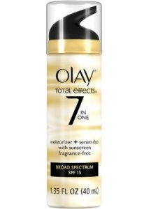 Olay Total Effects 7-In-1 Moisturizer Plus Serum Duo With Broad-Spectrum Sunscreen SPF 15 Fragrance Free