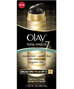 Olay Total Effects 7-In-1 Moisturizer Plus Serum Duo With Broad-Spectrum Sunscreen SPF 15 Fragrance Free Box