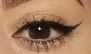 ELF Studio Cream Eyeliner Applied On Eye