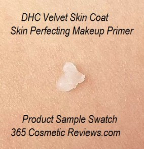 DHC Velvet Skin Coat Skin Perfecting Makeup Primer Swatch