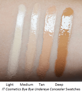 IT Cosmetics Bye Bye Undereye Concealer Color Swatches