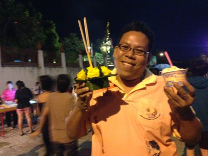 My friend Art with some coconut ice cream