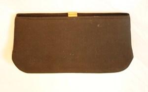 vintage purse before it is embellished