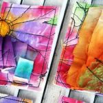 free style stictching on atc water color fabric