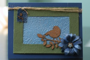 Embossed cardstock card