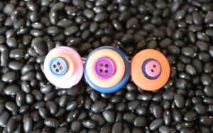 Stacked Button Hair Barrette for girls