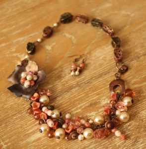 Copper Statement necklace - bohemian style
