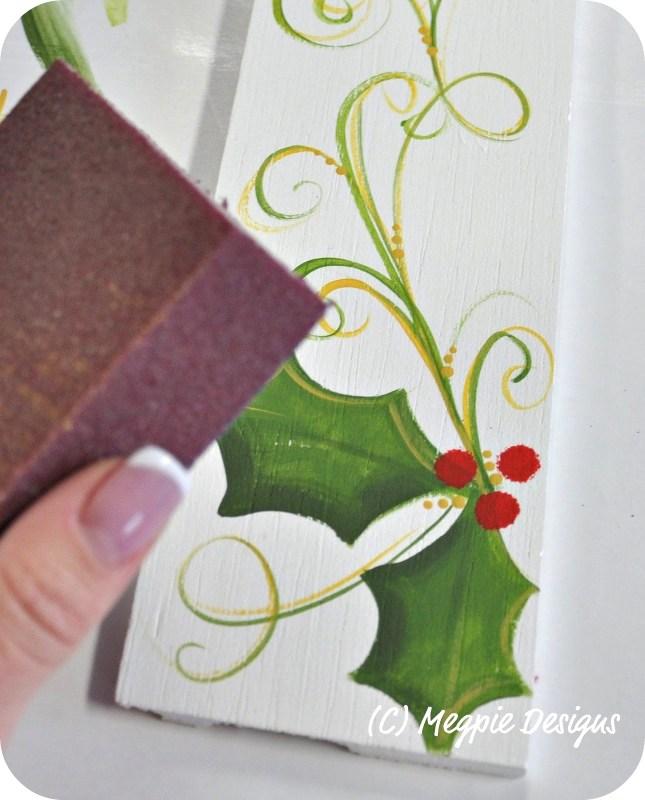 Hand painted balsa wood Santa