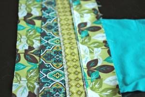 Final layering of fabric