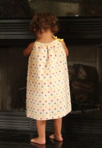 Back of Tea Towel Pillow Case Dress