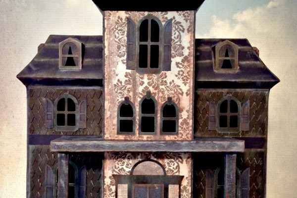 DIY Haunted House, handmade papercrafts