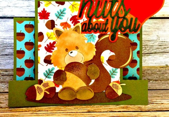 Silhouette Projects, Squirrel Card, Fall papercrafts, handmade cards