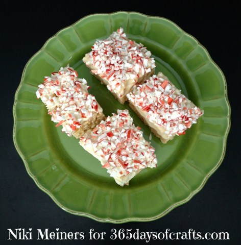 peppermint white chocolate cheesecake rice krispies