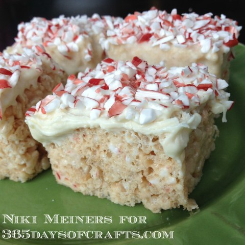 rice crispies white chocolate peppermint cheesecake