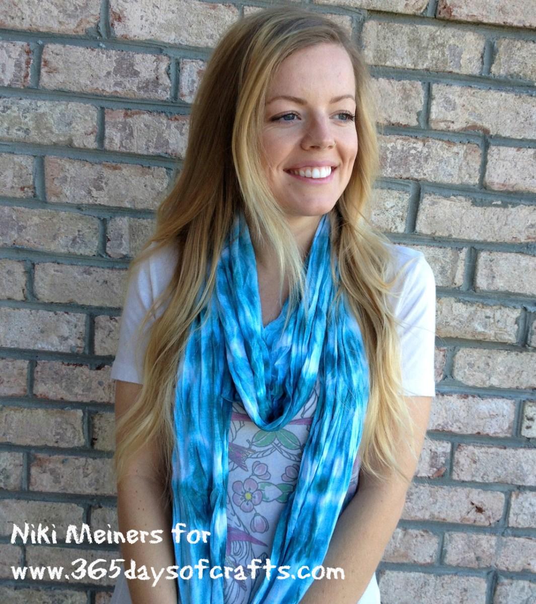 Shibori scarf - hand dyed indigo scarf