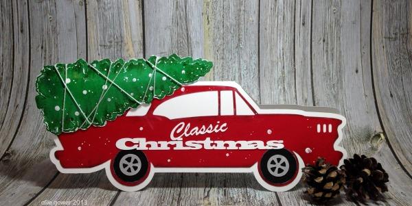 classic car, christmas car