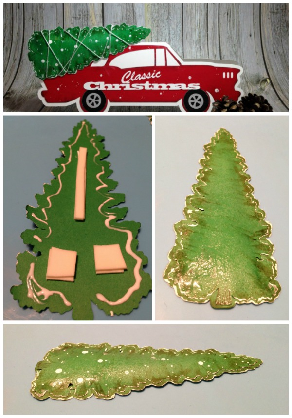 Vintage Christmas Camper Classic Car Christmas Card