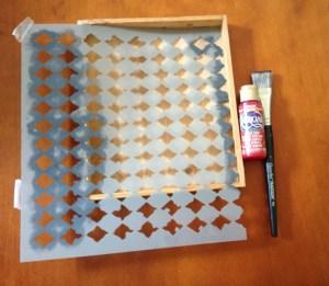 decoart stencil americana paint