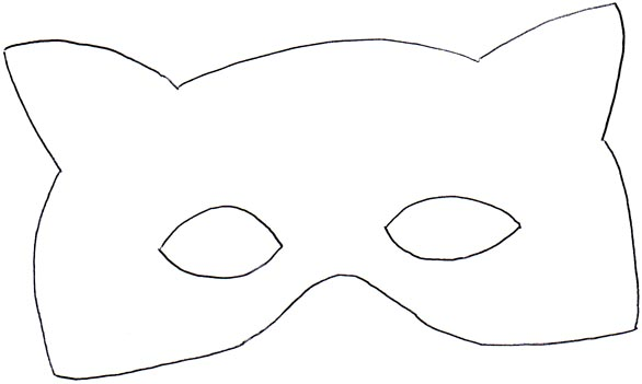 15 minute badger mask for halloween 365 days of crafts for Caterpillar mask template