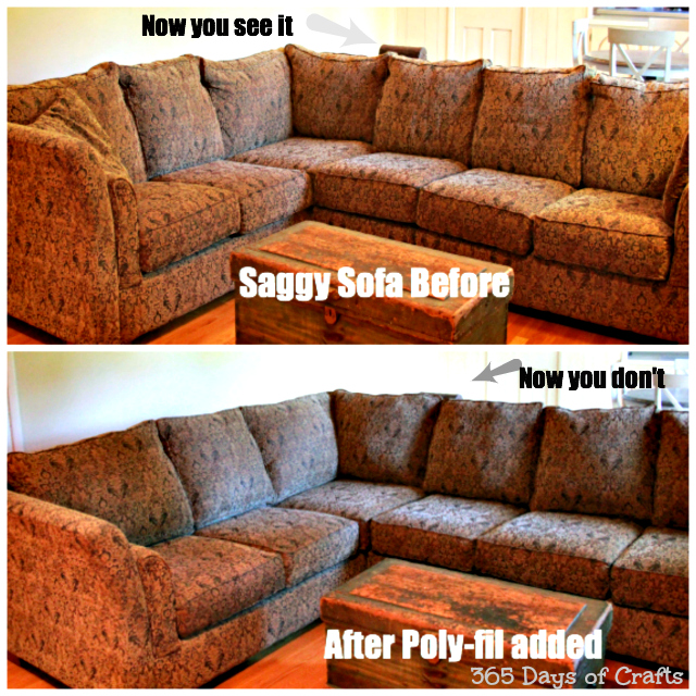 saggy sofa make over collage
