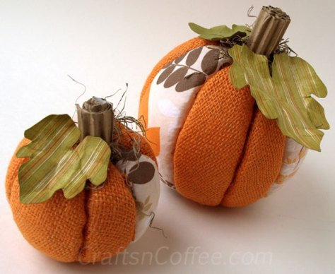 04 - Crafts N Coffee - No Sew Burlap Pumpkins